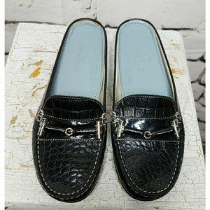 Cole Haan Black leather mule flats sz 5.5B